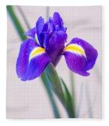 Wonderful Iris With Dew Fleece Blanket