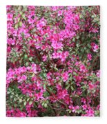 Wonderful Pink Azaleas Fleece Blanket