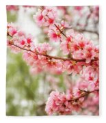 Wonderful Pink Cherry Blossoms At Floriade Fleece Blanket