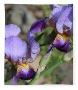Wonderful Purple Irises Fleece Blanket