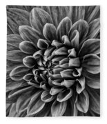 Wonderful Tones Dramantic Dahlia Fleece Blanket
