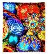 Wonderfully Beautiful Christmas Ornaments Fleece Blanket