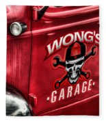 Wong's Garage Fleece Blanket