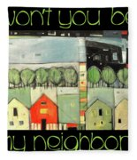 Wont You Be My Neighbor Fleece Blanket