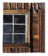 Wood And Window Fleece Blanket