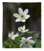 Wood Anemone  Fleece Blanket