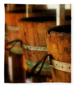 Wood Barrels Fleece Blanket