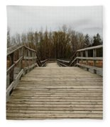 Wood Boardwalk At Valens Fleece Blanket