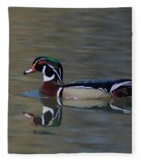 Wood Duck - Male Fleece Blanket
