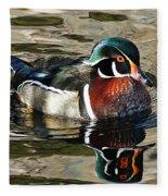 Wood Duck 1 Fleece Blanket