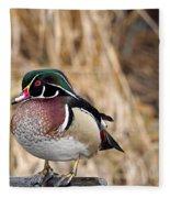 Wood Duck 3 Fleece Blanket