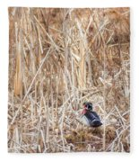 Wood Duck Drake 2 Fleece Blanket