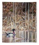 Wood Duck Drake 2018 Fleece Blanket