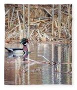 Wood Duck Drake 2018 Square Fleece Blanket