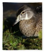 Wood Duck Female Fleece Blanket