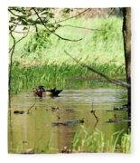 Wood Duck Mates Fleece Blanket