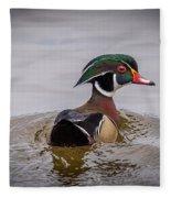 Wood Duck Fleece Blanket