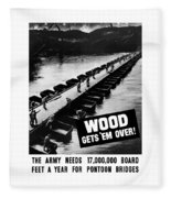 Wood Gets 'em Over Fleece Blanket