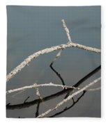 Wood In The Water Fleece Blanket