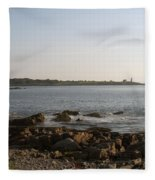Wood Island Lighthouse 1 Fleece Blanket