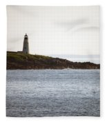 Wood Island Lighthouse 2 Fleece Blanket