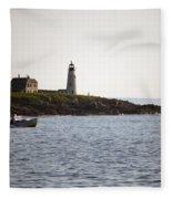 Wood Island Lighthouse 3 Fleece Blanket