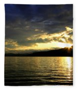 Wood Lake Sunburst Fleece Blanket