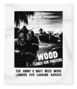Wood Lands Our Fighters Fleece Blanket
