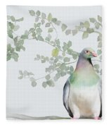 Wood Pigeon Fleece Blanket