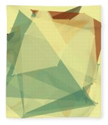 Wood Polygon Pattern Fleece Blanket