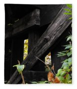 Wood Rail Underpass Fleece Blanket