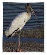 Wood Stork In The Final Light Of Day Fleece Blanket