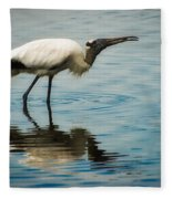 Wood Stork Fleece Blanket