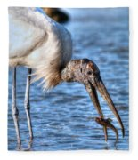 Wood Storks Breakfast Lunch And Dinner Fleece Blanket
