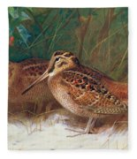 Woodcock In The Undergrowth Fleece Blanket