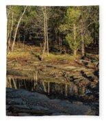 Wooded Backwash Fleece Blanket