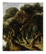 Wooded Landscape Fleece Blanket