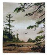 Wooded Shore Fleece Blanket