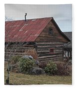 Wooden Barn Fleece Blanket