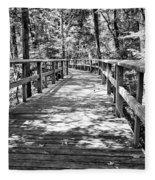 Wooden Boardwalk B Fleece Blanket