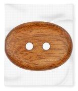 Wooden Button Fleece Blanket