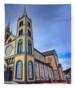 Wooden Cathedral  Fleece Blanket