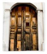 Wooden Door 1 Fleece Blanket