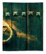 Wooden Door Fleece Blanket