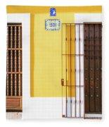 Wooden Doors In Old San Juan, Puerto Rico Fleece Blanket