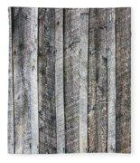 Wooden Fence And Ivy Fleece Blanket