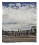 Wooden Fenced Corral Out West Fleece Blanket