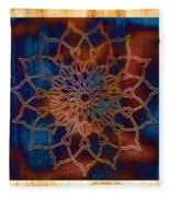 Wooden Mandala Fleece Blanket