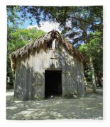 Wooden Mission Of Nombre De Dios Fleece Blanket