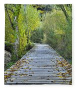 Wooden Path Fleece Blanket